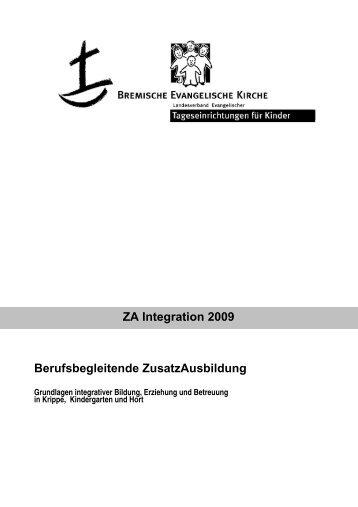 ZA Integration 2009 Berufsbegleitende ZusatzAusbildung