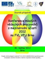 Sborník - Veterinární a farmaceutická univerzita Brno