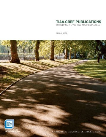 TIAA-CREF Publications Catalog