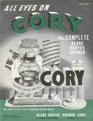 Cory Vacuum Coffee Pot Catalog - 1940 - Meba.com