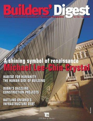 michael lee-chin crystal - Toronto Construction Association
