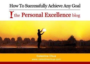 The Personal Excellence Blog - CelestineChua.com - Trans4mind