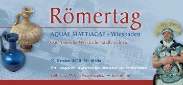 """Den Flyer zum """"Römertag"""" können Sie hier ... - Wiesbadenaktuell"""