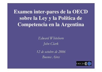 Ponencia OCDE - Comision Nacional de Defensa de la Competencia