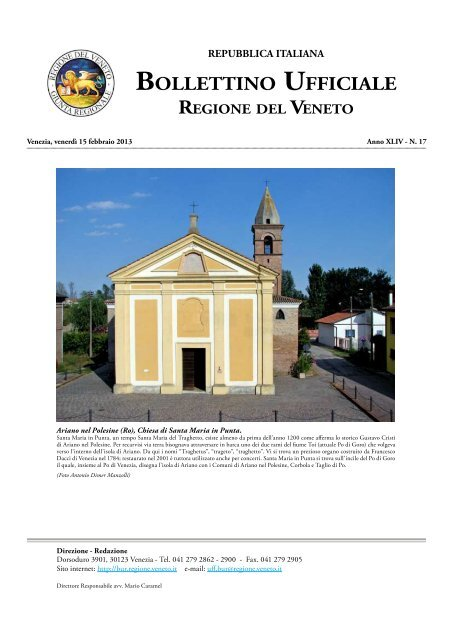 Bur N 017 Del 15 Febbraio 2013 Associazione Realta Veneta