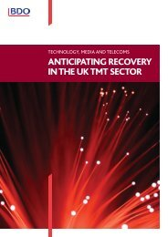 Anticipating Recovery in the UK TMT Sector 2011