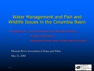 Water Management and Fish and Wildlife Issues in the Columbia ...