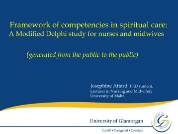 Framework of competencies in spiritual care - European Conference ...