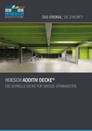 HOESCH ADDITIV DECKE® - Hoesch Bausysteme GmbH