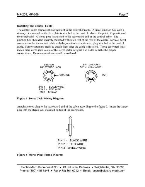 [NRIO_4796]   MP-259, MP-269 Page 6 ELE | Scoreboard Wiring Diagrams |  | Yumpu