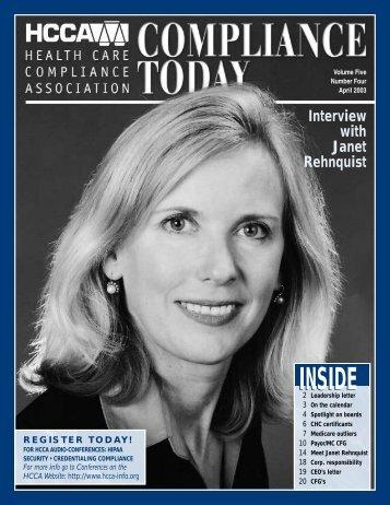 INSIDE - Health Care Compliance Association