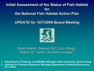 Initial Assessment of the Status of Fish Habitat Initial Assessment of ...