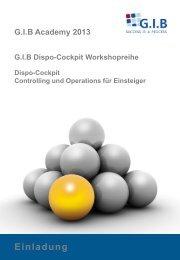 GIB Dispo-Cockpit – eine runde Sache!