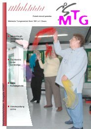 Vereinsnachrichten- Ausgabe 4/2007 - MTG Horst