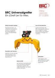 BRC Universalgreifer - BAURENT CENTRAL, Rain