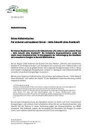 Für sicheren und saubere Für sicheren und ... - Grüne Baselland