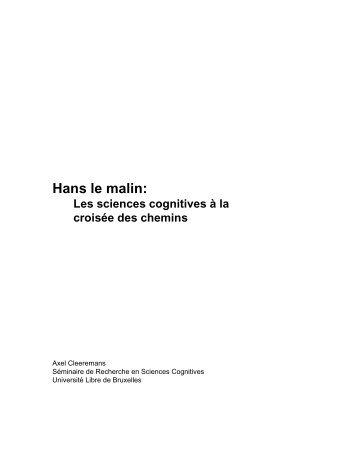 Hans le malin: - Cognitive Science Research Unit - Université Libre ...