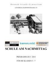 SCHULE AM NACHMITTAG