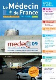 Médecin de France n°1121 - CSMF