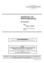 und Bedienungsanleitung für Kaminofen Typ 4622 – 5 ... - Mare Solar