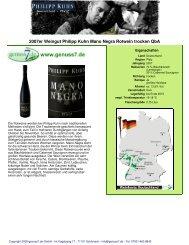 2007er Weingut Philipp Kuhn Mano Negra Rotwein ... - Genuss7.de