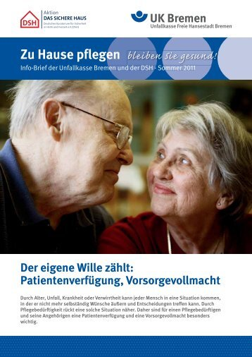 Zu Hause pflegen - Unfallkasse Freie Hansestadt Bremen