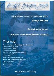 Themes - European Nuclear Society