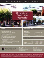 Downtown Saratoga - Prime Commercial, Inc