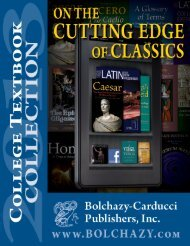 College Catalog 2013 - 11-19-12.indd - Bolchazy-Carducci
