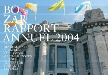 Rapport annuel 2004 - Bozar.be