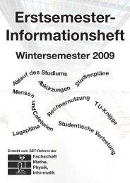 ESI 2009 - Fachschaft Mathematik/Physik/Informatik - Technische ...