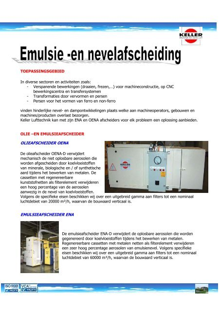 Download brochure Oena en Ena - Keller