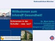 Schmerzen in der Schulter - was tun? - Rotkreuzklinikum München