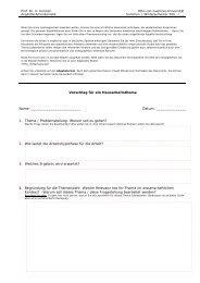 Vorschlag für ein Hausarbeitsthema Name - Otto-von-Guericke ...