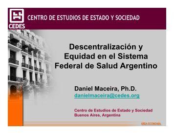 Descentralización y Equidad en el Sistema Federal de Salud ...