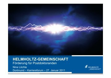 HELMHOLTZ-GEMEINSCHAFT