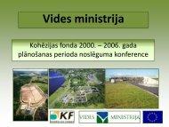 Vides ministrijas prezentācija - ES fondi