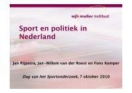 Sport en politiek in Nederland - Dag van het Sportonderzoek