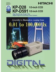 KP-D591 1/2-inch CCD KP-D28 1/3-inch CCD - Image Labs ...
