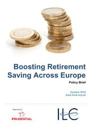 Boosting Retirement Saving Across Europe, ILC ... - ESF-Age Network