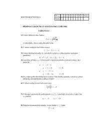 Přijímací test z matematiky