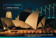 Company PRoFILE - Pharmaxis