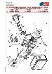 Spare Parts List - Riello Burners