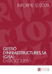 Informe 12/2009 - Generalitat de Catalunya