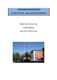 Læsekompetencecenter Frederiksberg - Skolen på la Cours Vej ...