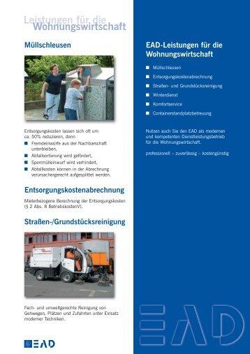 Leistungen für die Wohnungswirtschaft - EAD - Darmstadt