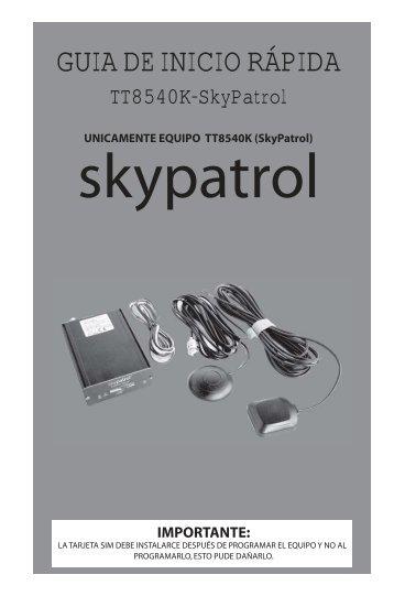 GUIA TT8540K- SkyPatrol.ai - Syscom