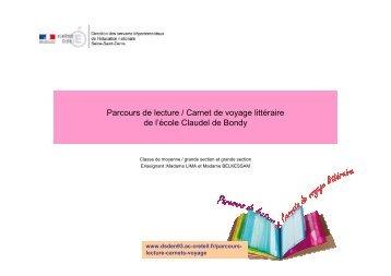 Parcours de lecture Claudel Bondy - Inspection académique de la ...