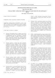 ROZPORZĄDZENIE KOMISJI (WE) NR 41/2009 z dnia ... - EUR-Lex