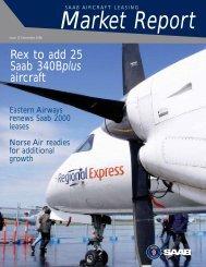 Rex to add 25 Saab 340Bplus aircraft - Saab Aircraft Leasing